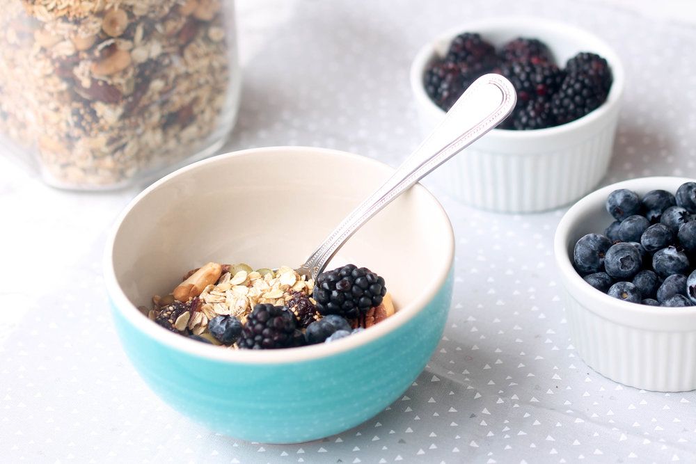Homemade Muesli - quick, nutritious breakfast and snack option! Vegan and Gluten-Free.