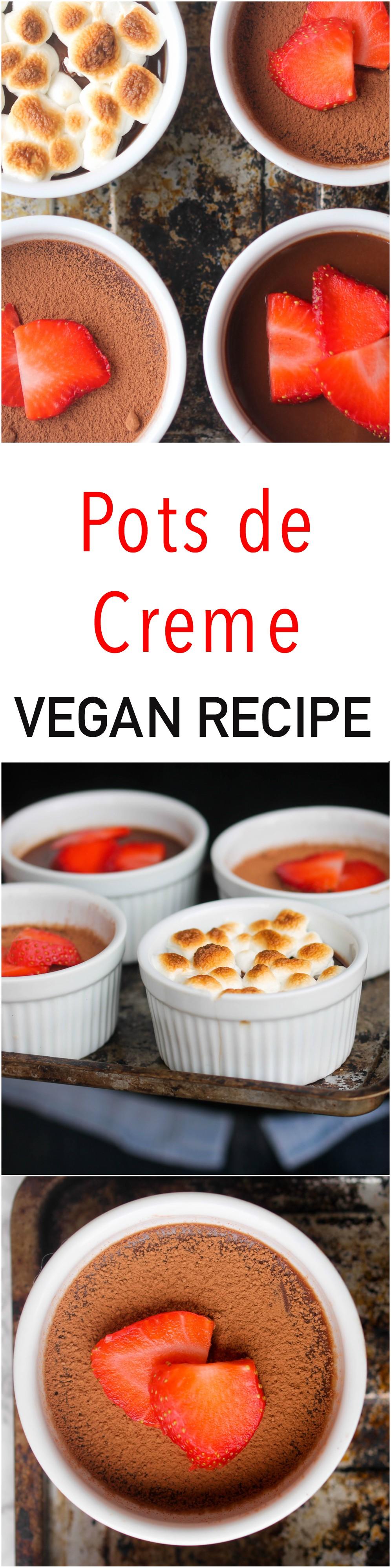 Vegan, No Bake Pots de Creme