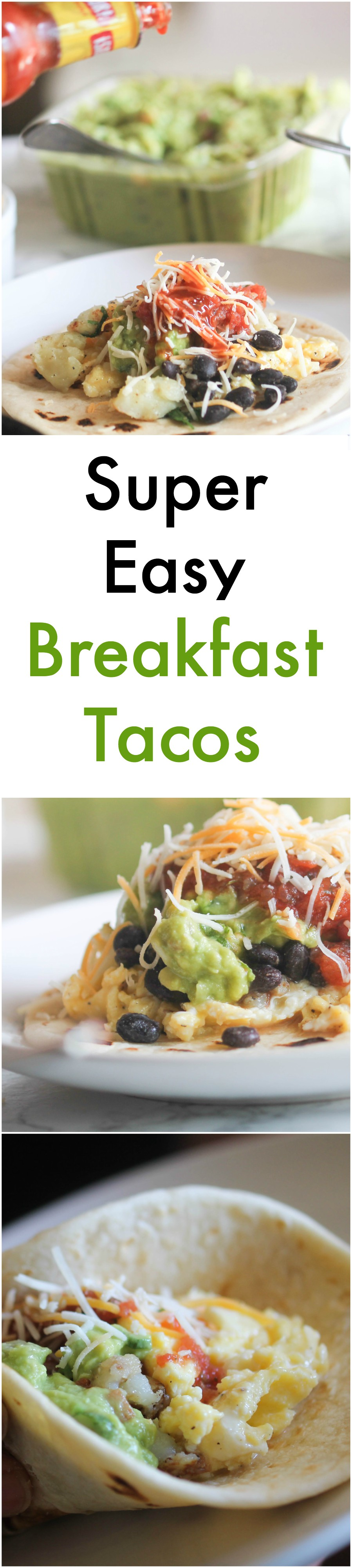 Super Easy Breakfast Taco combines all the basic breakfast taco essentials in 10 minutes or less. It is great for quick breakfast or for feeding a large crowd. Lots of options for vegetarians, vegans, and gluten-free lifestyle.