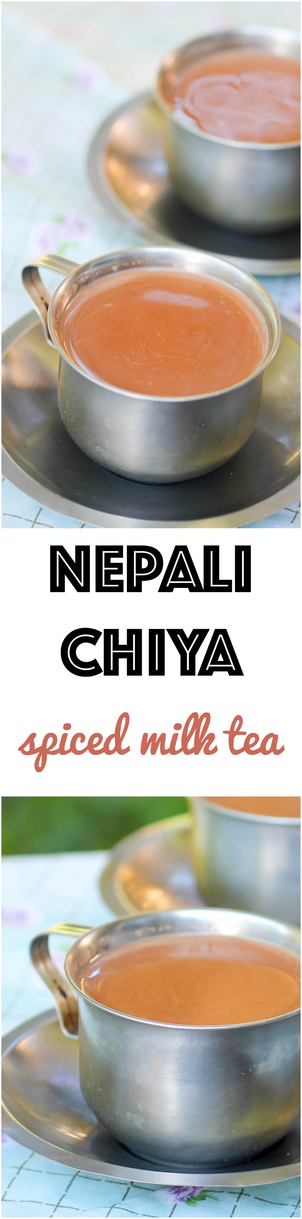 Nepali Chiya is a milk-based spiced tea enjoyed by most Nepali. It is flexible to meet different lifestyles and can be be adjusted to serve yourself or a large crowd.