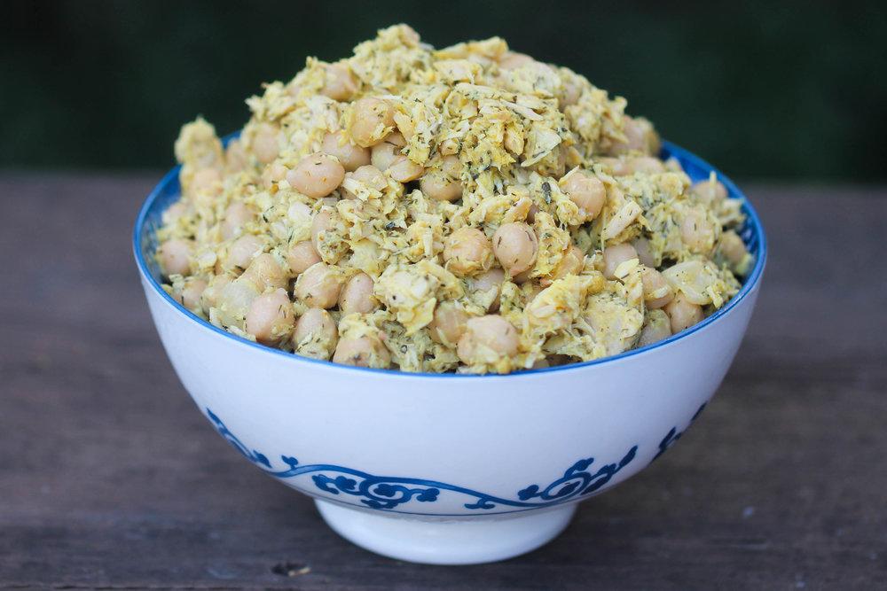 High Protein Tuna and Chickpea Salad