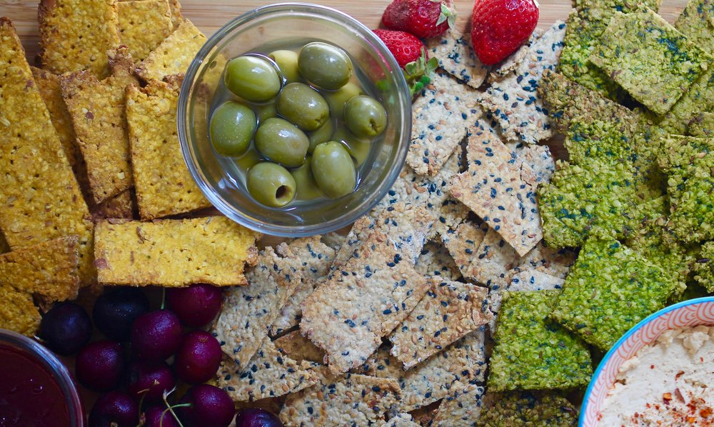 Healthy Homemade Vegan Crackers