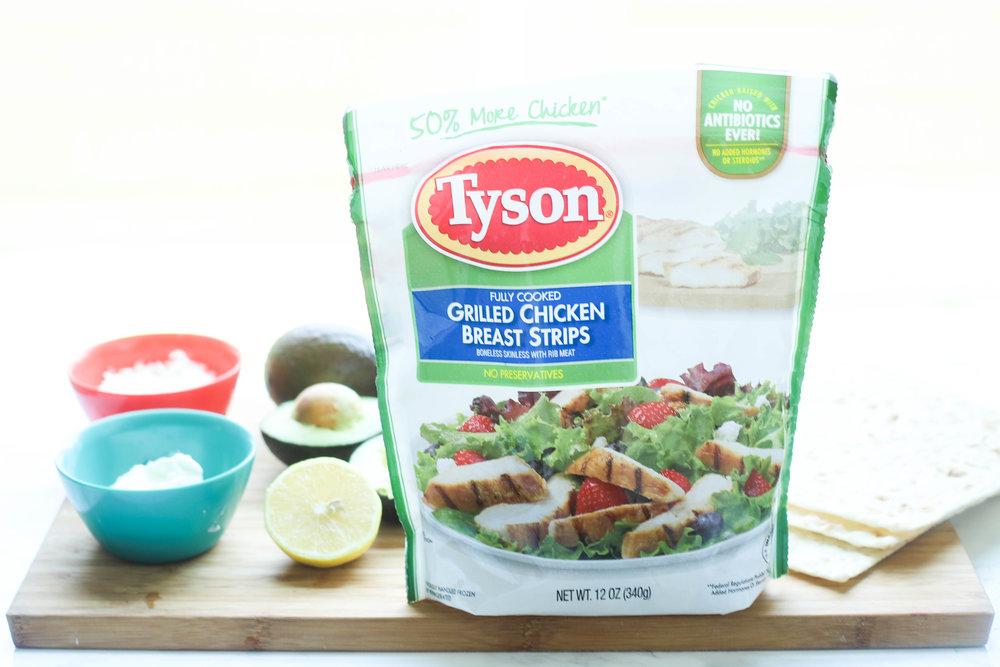 Avocado Chicken Salad Wrap High Protein
