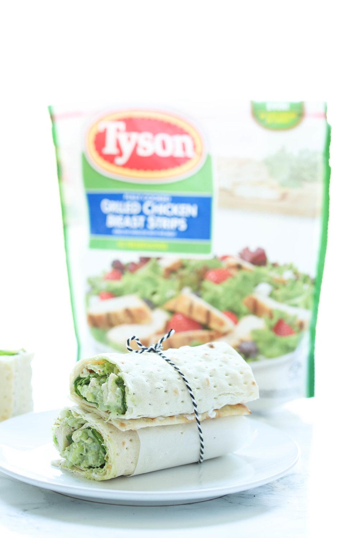 Healthy Chicken Avocado Salad Wrap