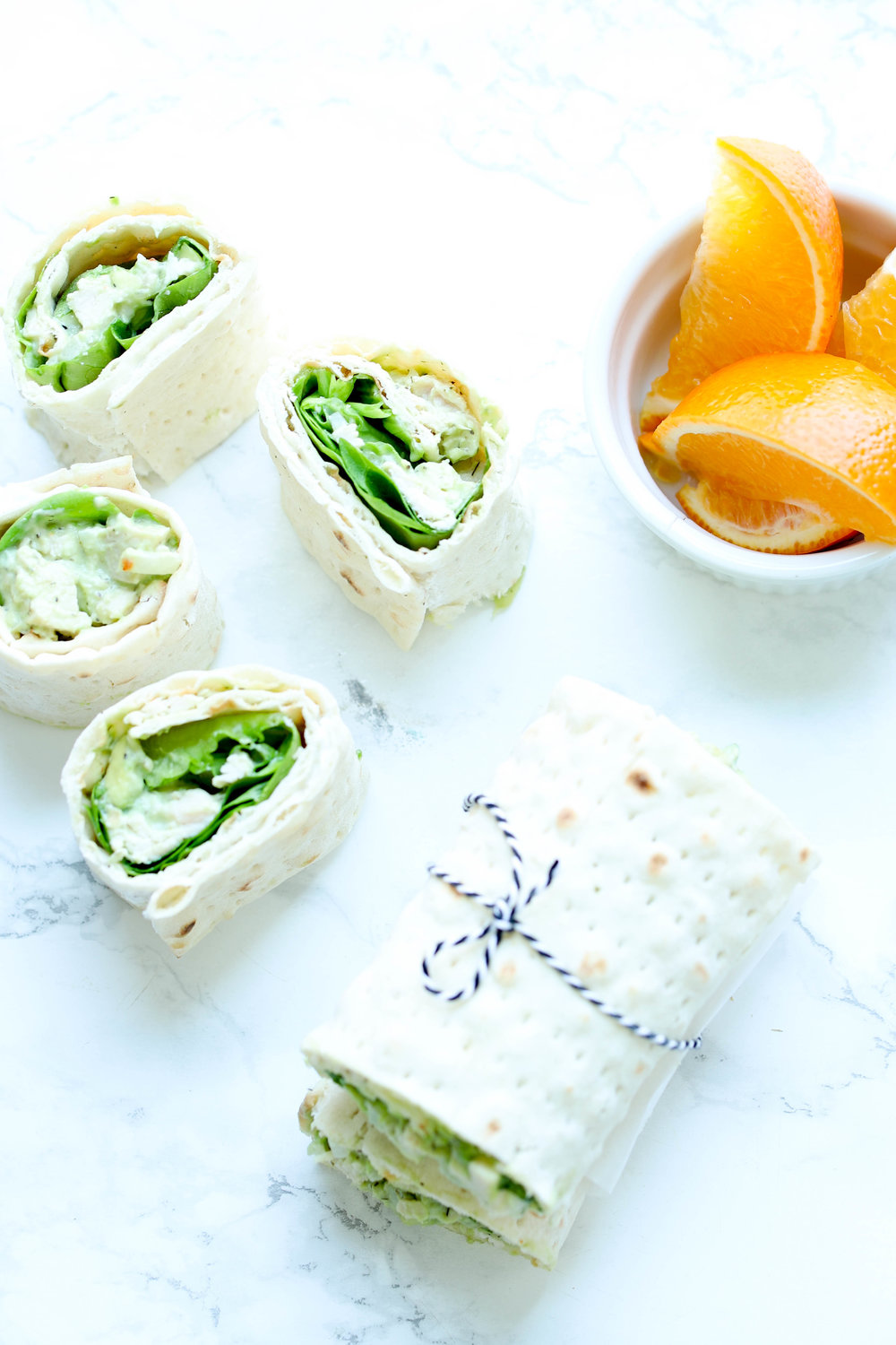 Lunchbox Chicken Avocado Salad Wrap is a healthier take on classic chicken salad. It is quick & packed with healthy fats, and protein for your lunchbox.