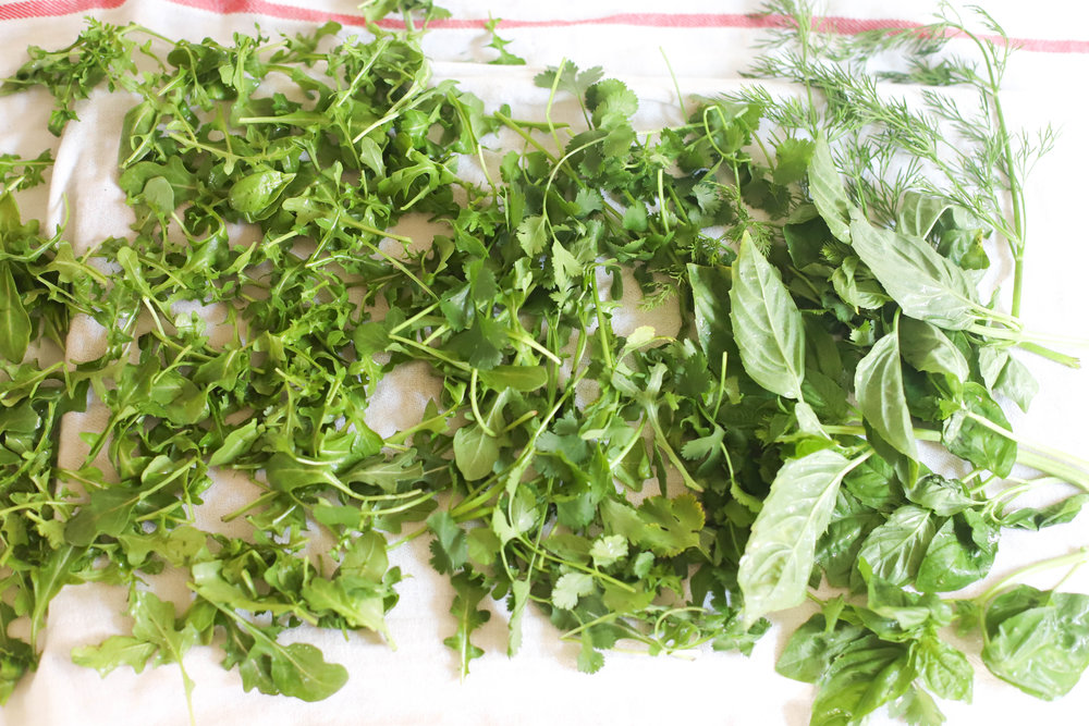 3 herb and arugula salad