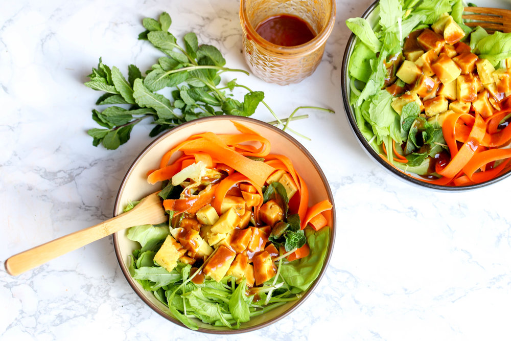 shan tofu salad