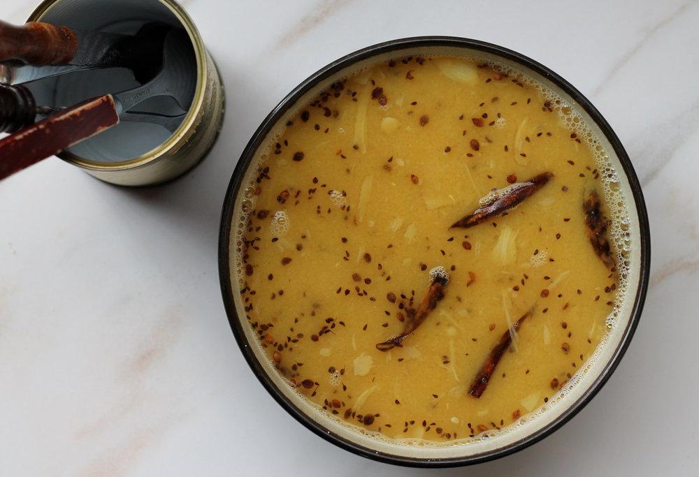 Yellow Split Pea Daal - Slow-cooker version