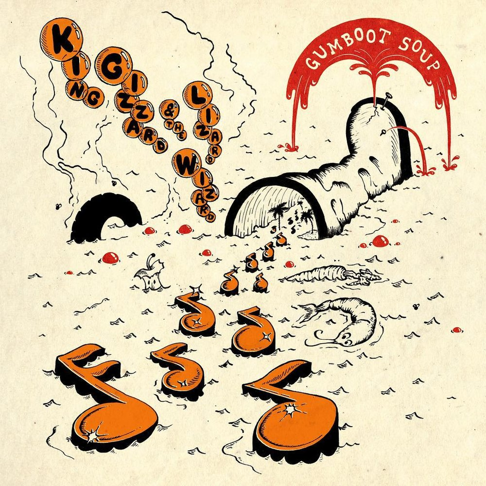 Gumboot soup album cover by Jason Galea
