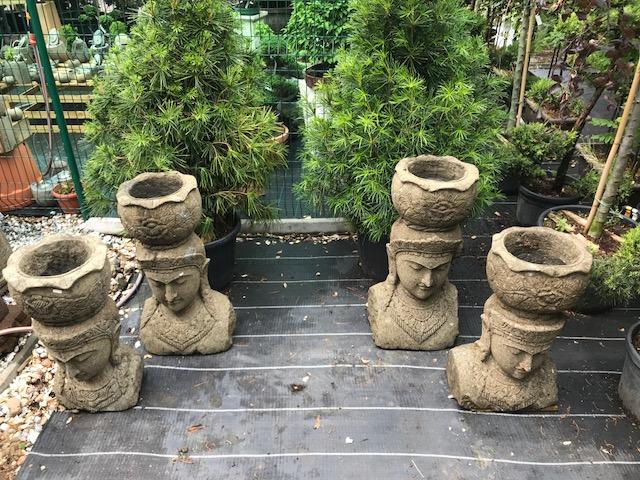 Flower pot made of javan volcanic rock