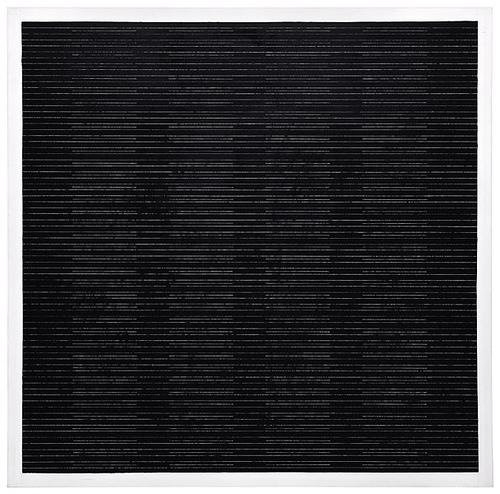 Agnes Martin, black 1