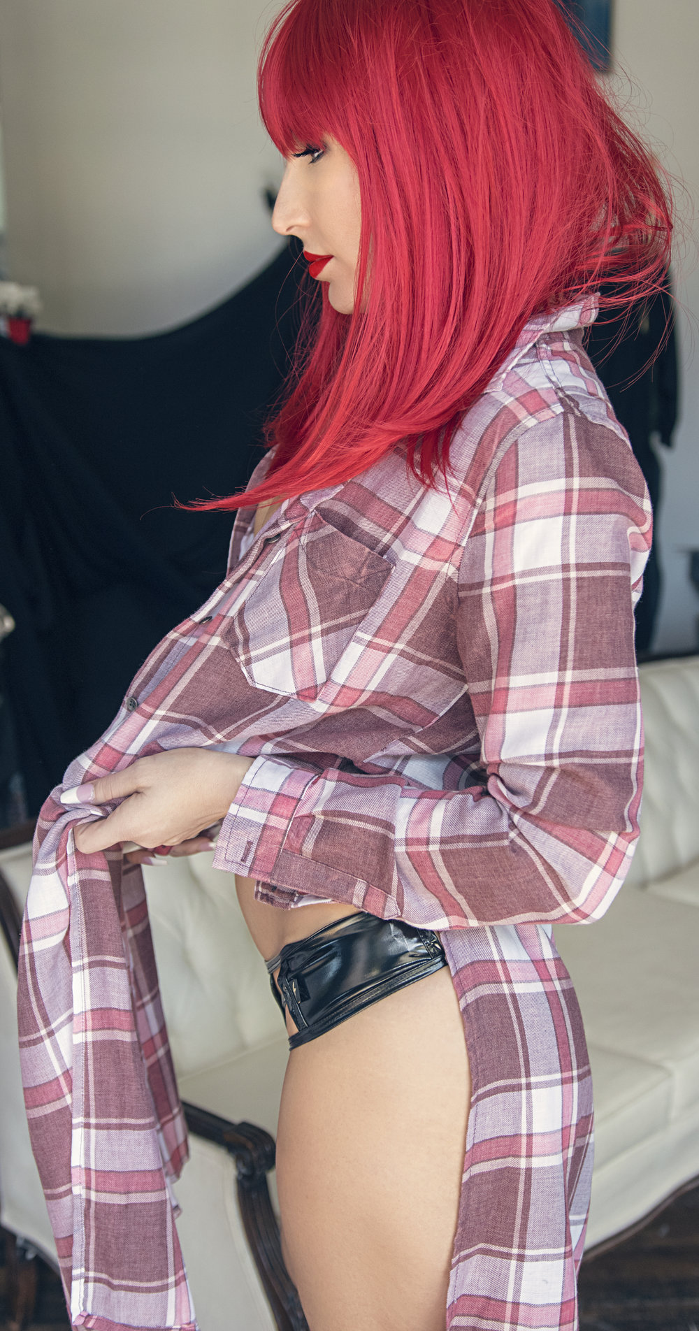 Shown in photo is our owner, Brandi in our new flannel dusters.