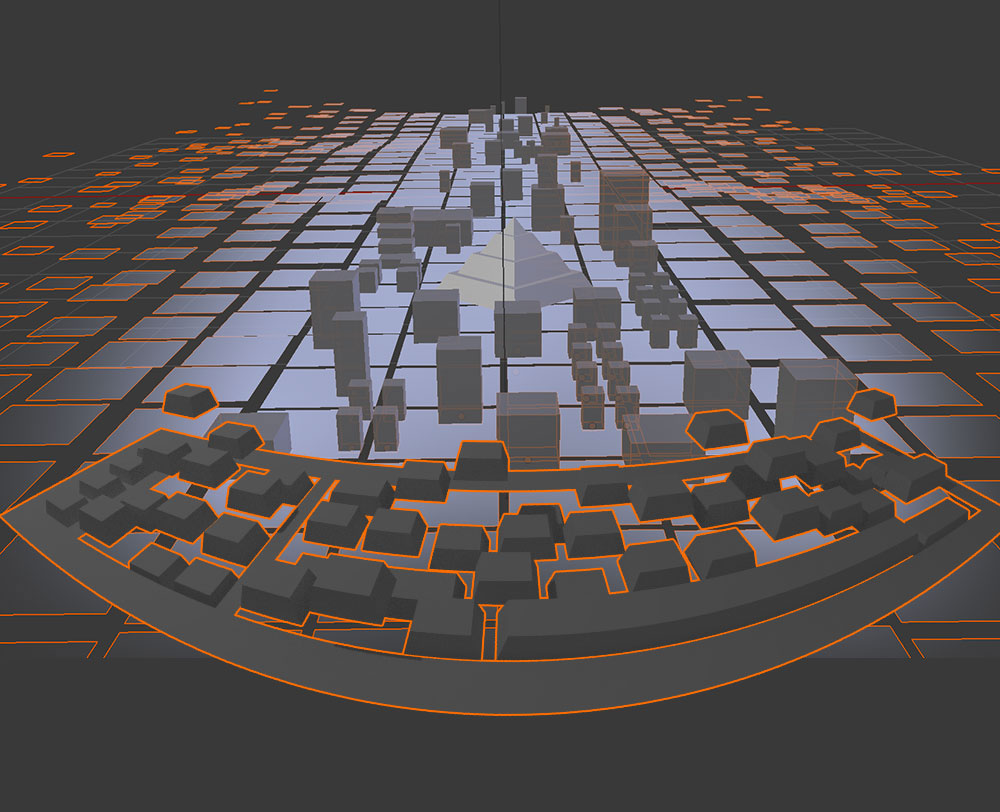 - Call me lazy, but its just so much easier to place geometric shapes & warp them with goofy perspectives in Blender.