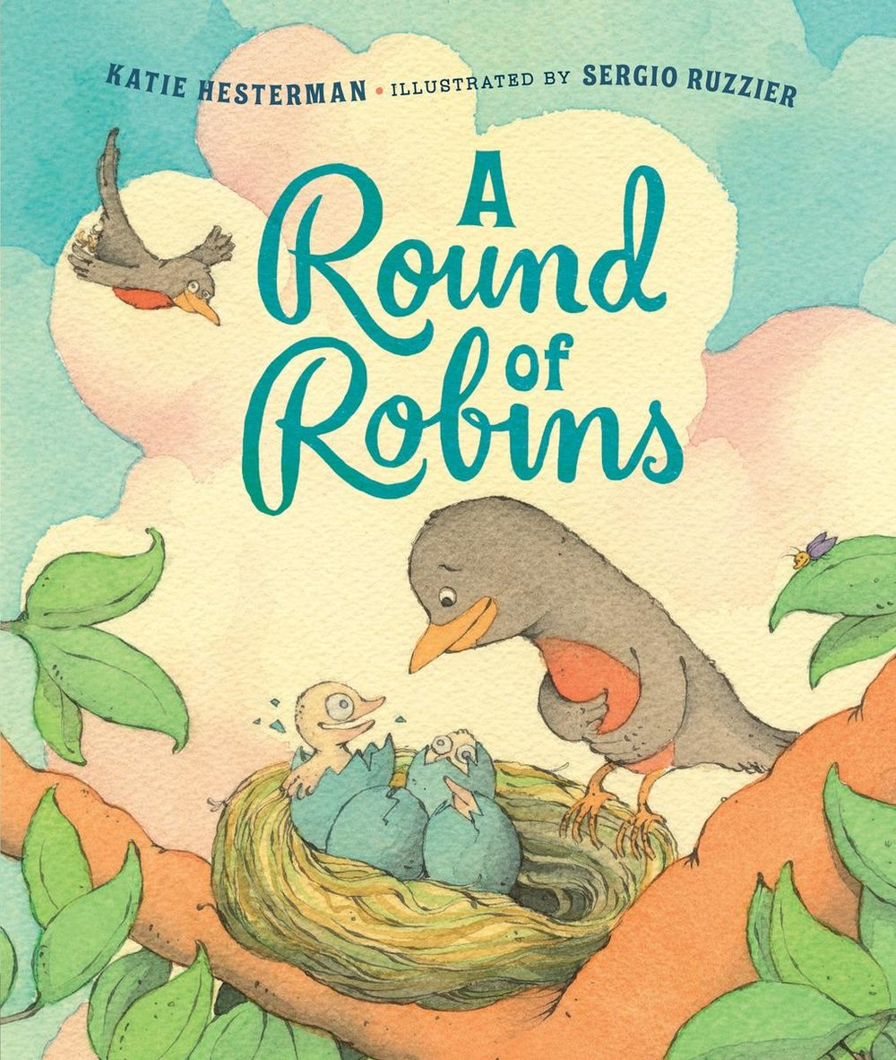 A Round of Robins - From defending their territory to sending off their feisty fledglings and everything in between, A Round of Robins explores the nesting cycle of the robin with sixteen playful, plucky poems.