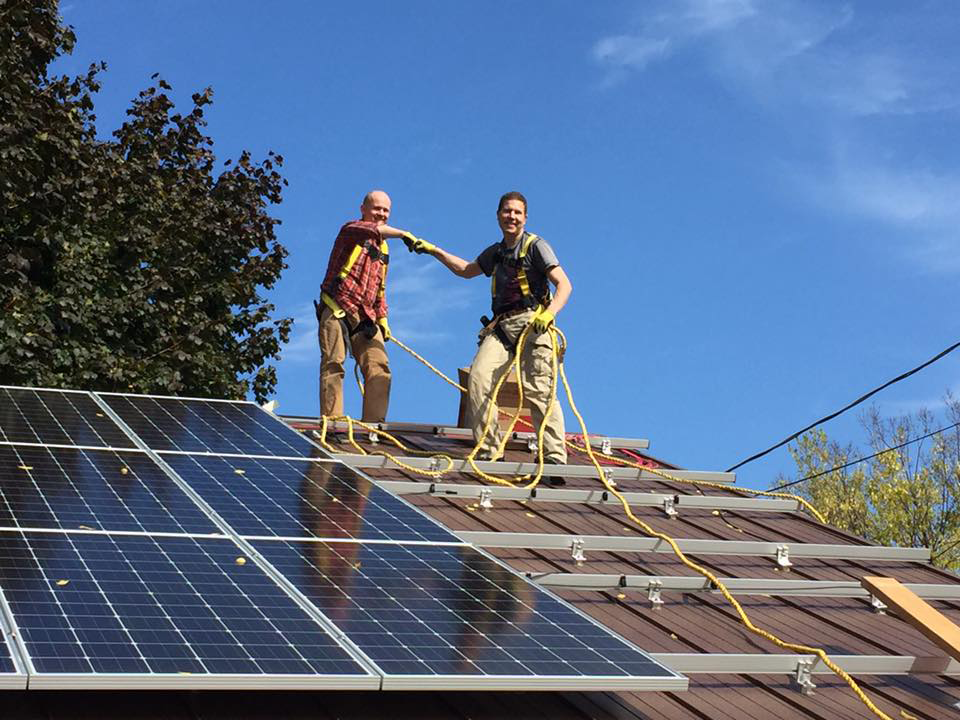 Installing solar panels with the founder of PlugIn Connect