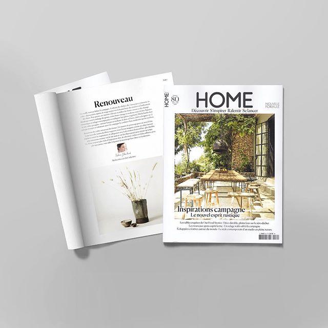 Très heureuses et honorées de faire partie de ce nouveau numéro de @homemagazineofficiel Un très beau magazine plein d'images très inspirantes, de belles matières et de jolies adresses à découvrir. 💛