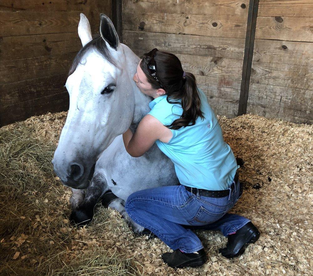 Caitlyn Shiels' Cavalier II with Dr. Heather Woodruff of Foxwood Equine