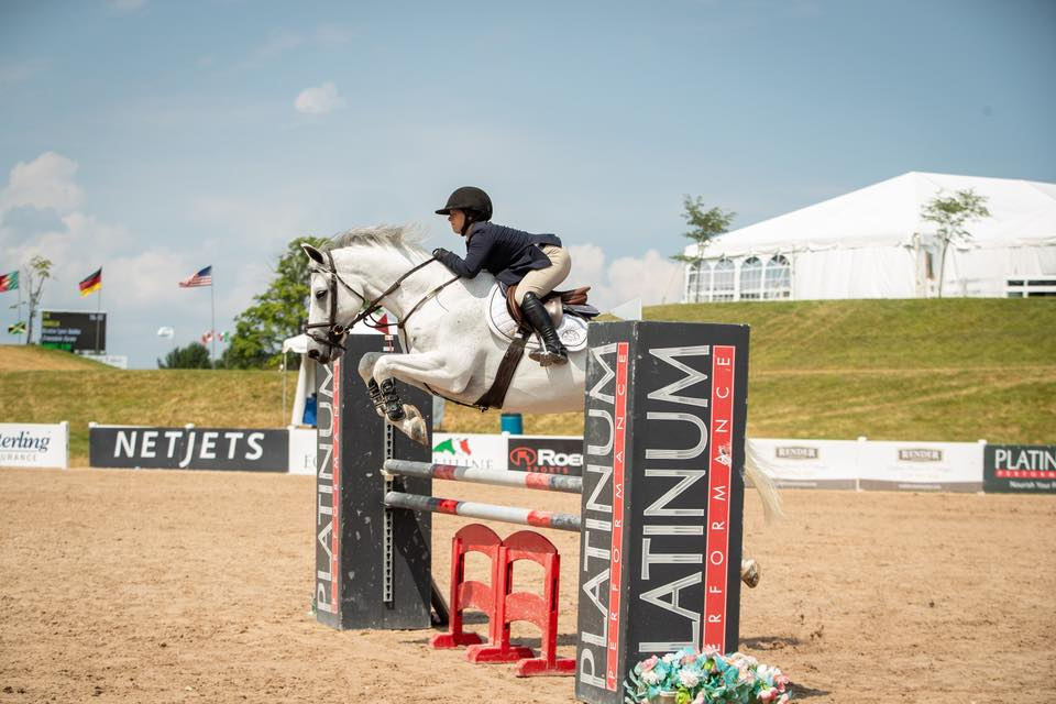 Marisa Malevitis and KT Forest - fifth in the $500 Adult Jumpers!