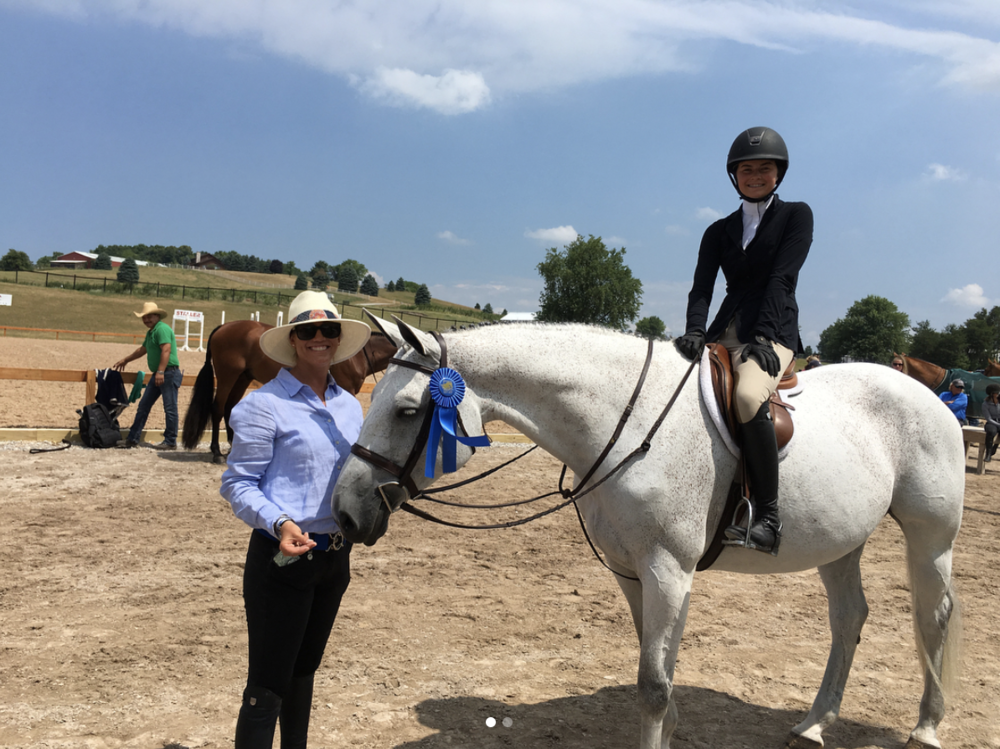 Hannah Hoch rode Cakewalk to first and second place finishes in the Children's Hunters! Read more about  Cakewalk here ! She's available to be tried through week four of GLEF!