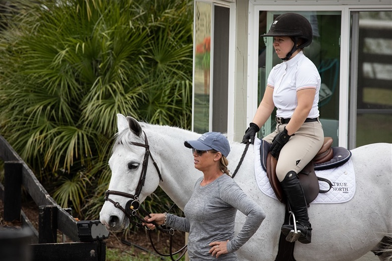 Caitlyn with Marisa and KT Forest. Photo by  Fine Art Horses