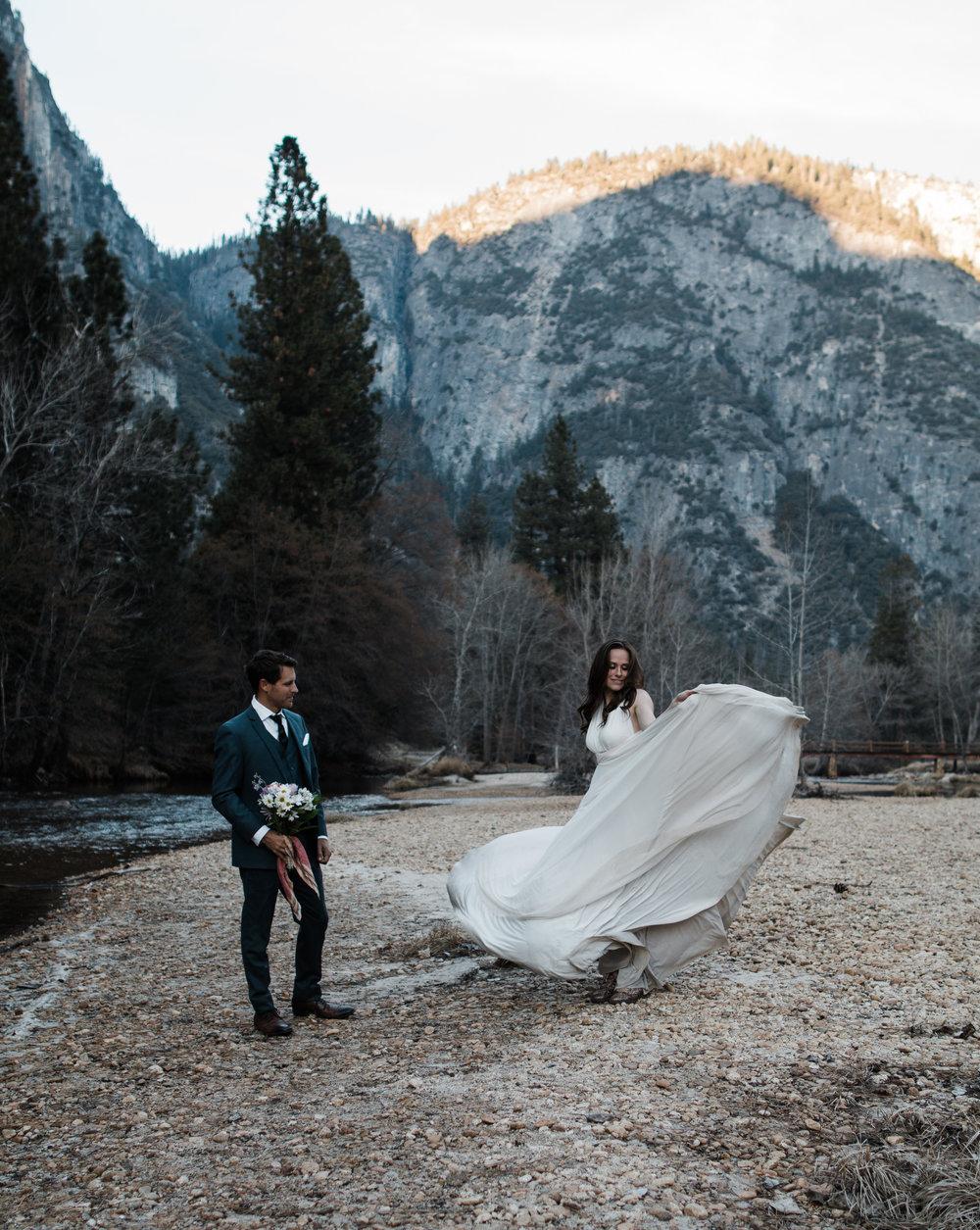adventure elopement in yosemite national park