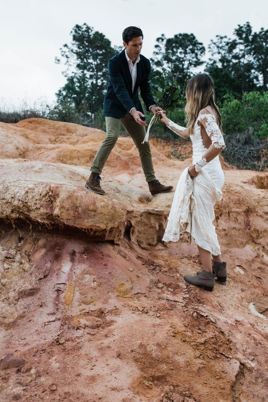 badlands hiking elopement