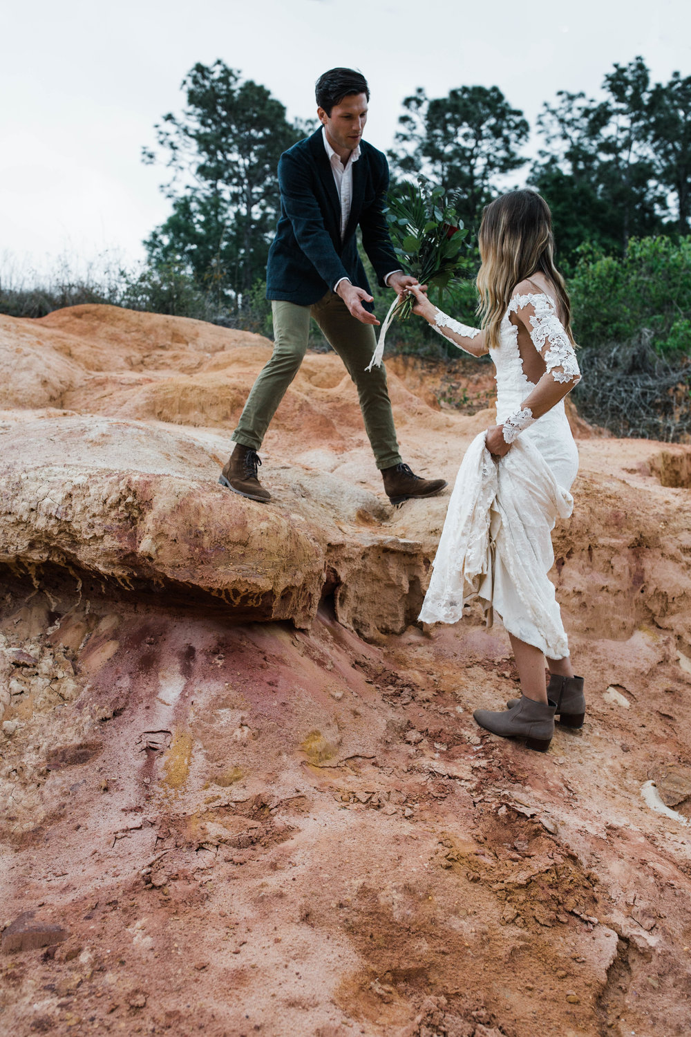 badlands hiking elopement