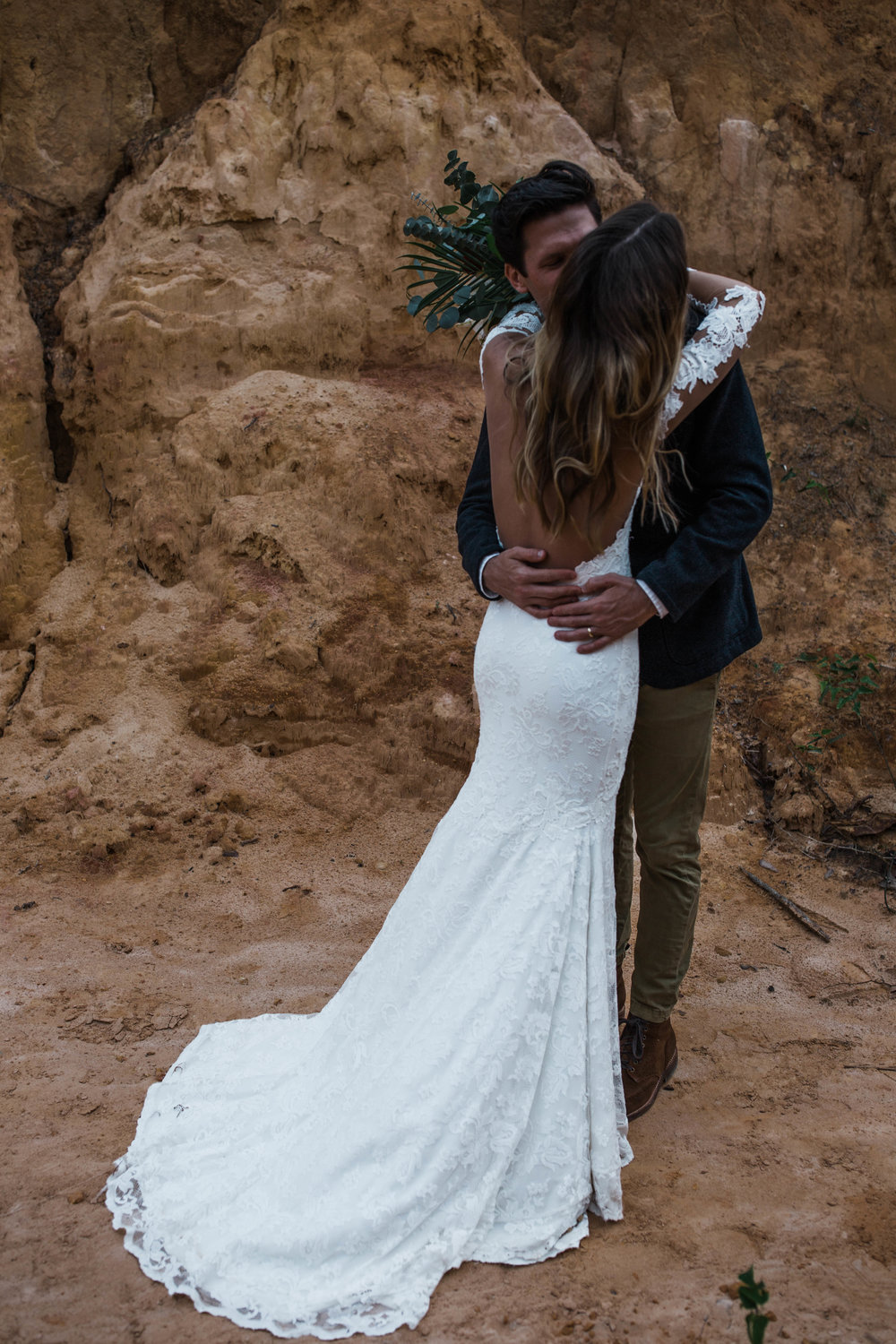 The sweetest first look at an elopement in Pensacola, FL