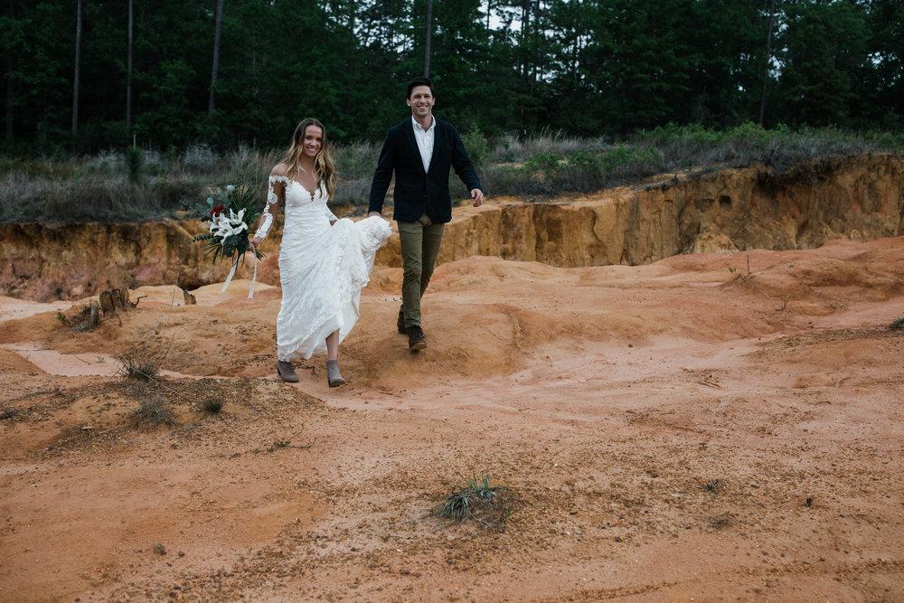 Desert slot canyon adventure elopement inspried shoot