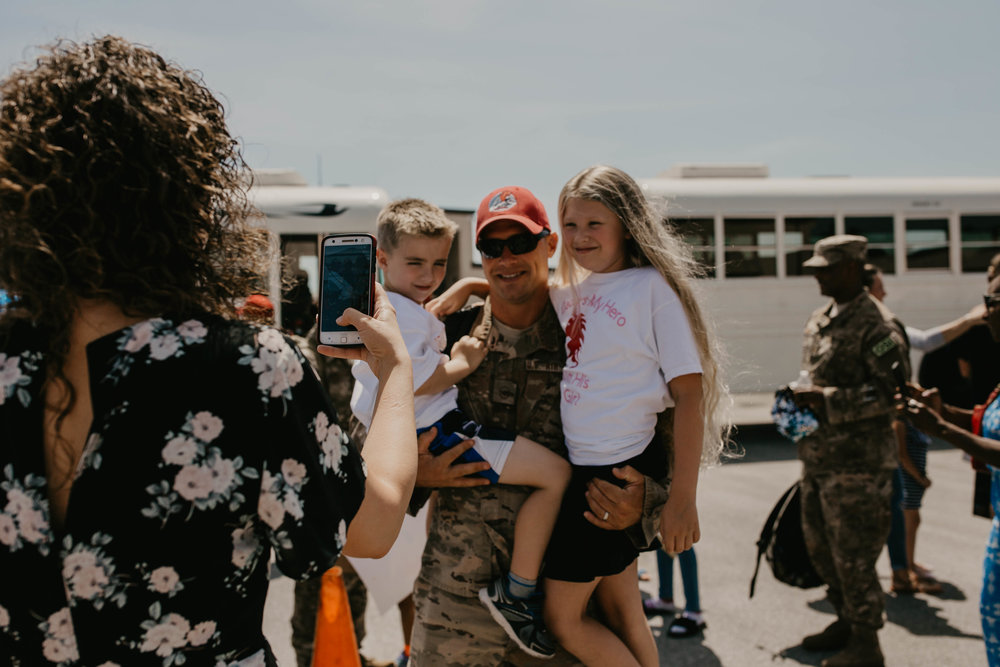 Military family reunited after a 7 month deployment