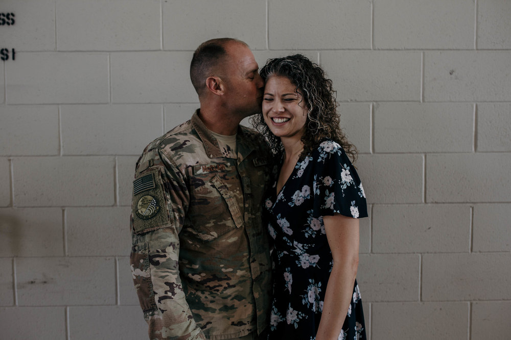 Heart felt military homecoming after a long deployment