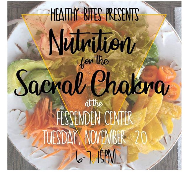 "Happening this week - the second cooking class in the Nutrition for Chakras series! It's 6pm this Tuesday, Nov. 20, featuring an ""orange menu"" to honor and stoke the second chakra. It's $10, sign up at the Fess in-person or by phone. Can't wait! #buxton #fessendencenter #hatterasisland #cookingclass #tastingclass"