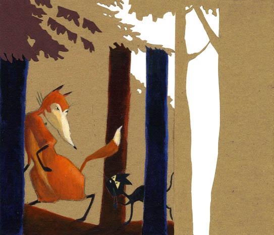 Le renard et le chat