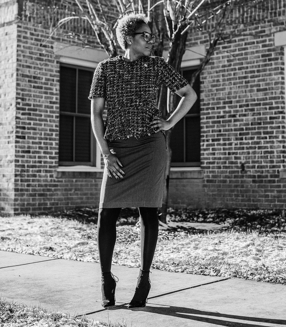 Photo by: Savannah Avril Photography  Blouse: Zara; Skirt: Express (2013); Shoes: Zara