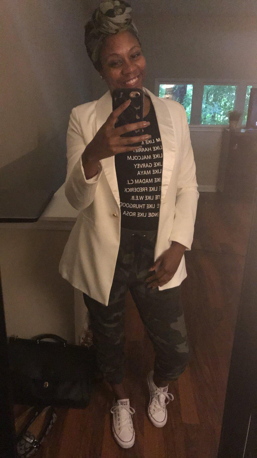 Jacket: ASOS; Shirt and Pants: Thrift