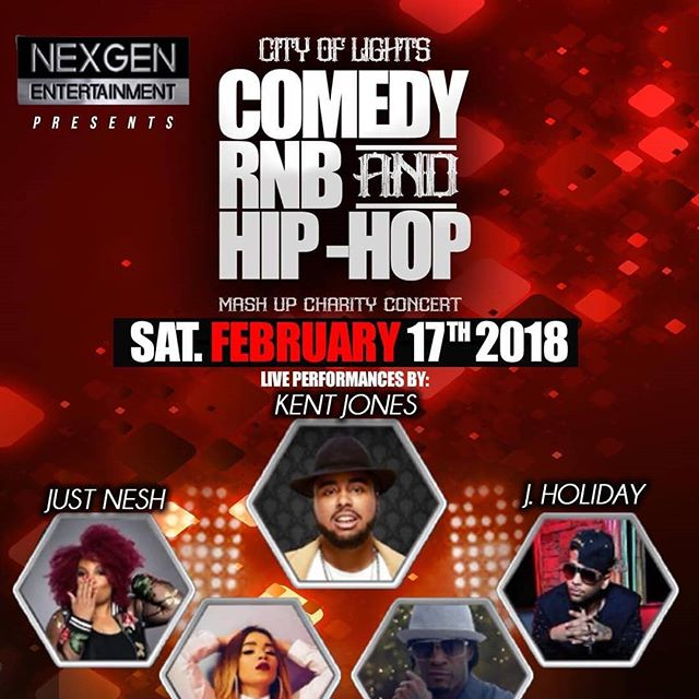 What's good in Aurora, IL!? Get your $35 early bird/$50 at the door.  A portion of the proceeds go to local charities! https://www.eventbrite.com/e/city-of-lights-comedy-rb-and-hip-hop-mashup-charity-concert-tickets-41643935131?aff=eand