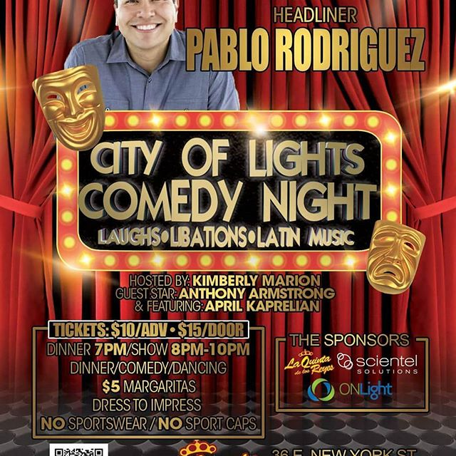 Showtime in Aurora Illinois.  Nexgen Entertainment presents the City of Lights Comedy Night.  Get your tickets before it's too late. https://www.eventbrite.com/e/the-city-of-lights-comedy-night-presentspablo-rodriguez-tickets-44437308185?aff=eand