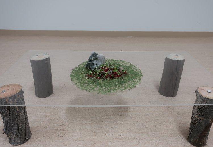 Exhibited on a handmade plexiglas and kello wood pedestal by Upi Kärri, Kemijärvi, Lapland, Finland.