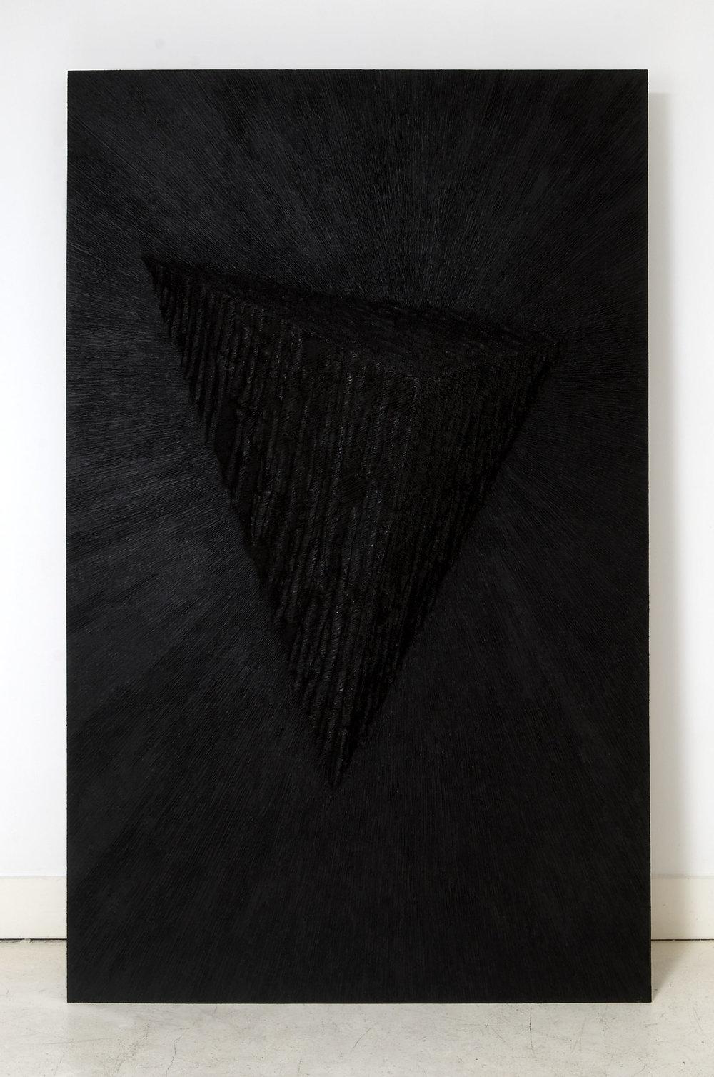Leaning-Sculpture-&-Leaning-Sculpture-[Replica],-Board,-screws,-paper-maché,-black-board-paint,-acrylic-paint,-gel-medium,-both;-195-view-2.jpg