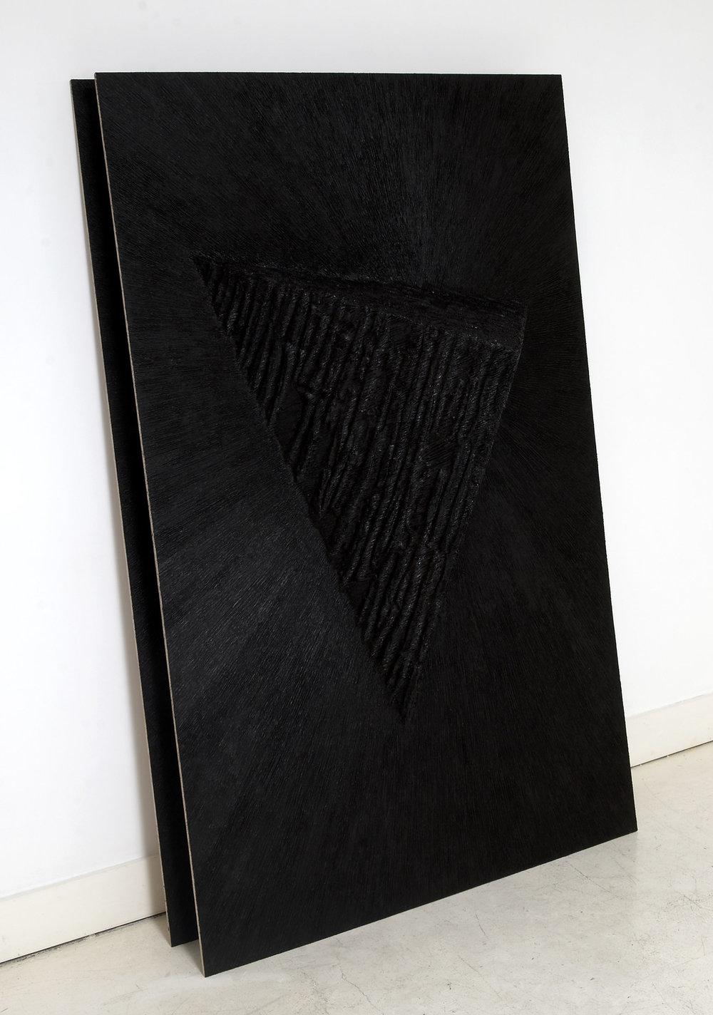 Leaning-Sculpture-&-Leaning-Sculpture-[Replica],-Board,-screws,-paper-maché,-black-board-paint,-acrylic-paint,-gel-medium,-both;-195.jpg