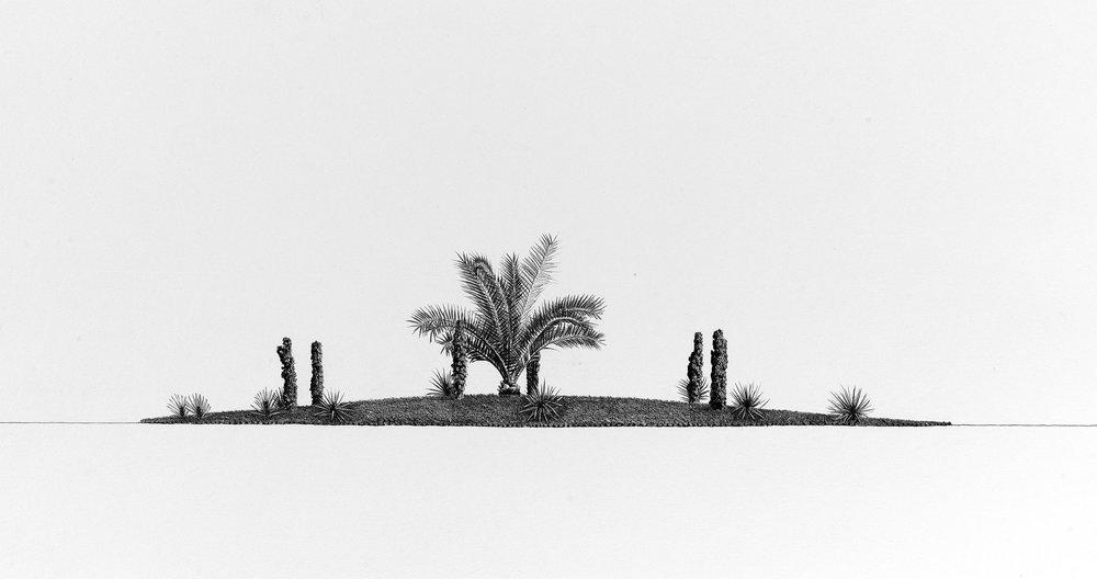 Traffic-Island,-Pencil-on-paper,-41-x-76.jpg