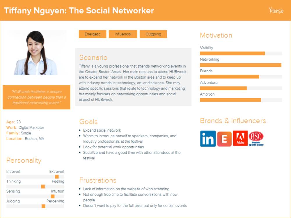 Persona 1: Tiffany Nguyen, The Social Networker
