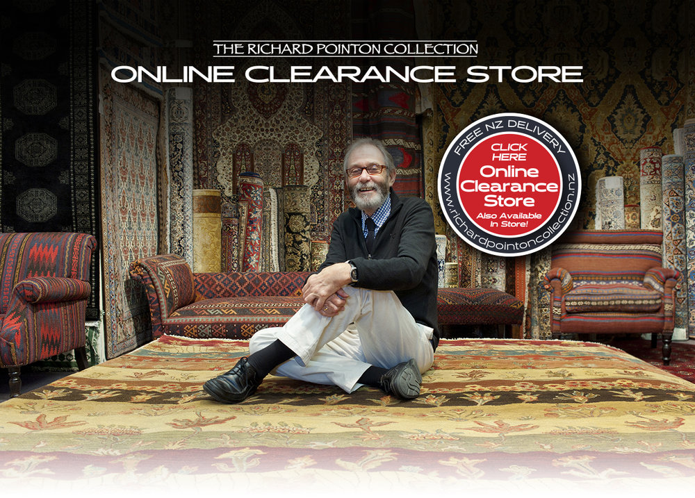 Richard Pointon in their Oriental and Persian Carpet / Rug showroom
