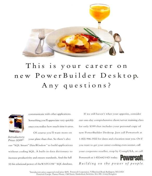 A 1990's Powerbuilder advertisement