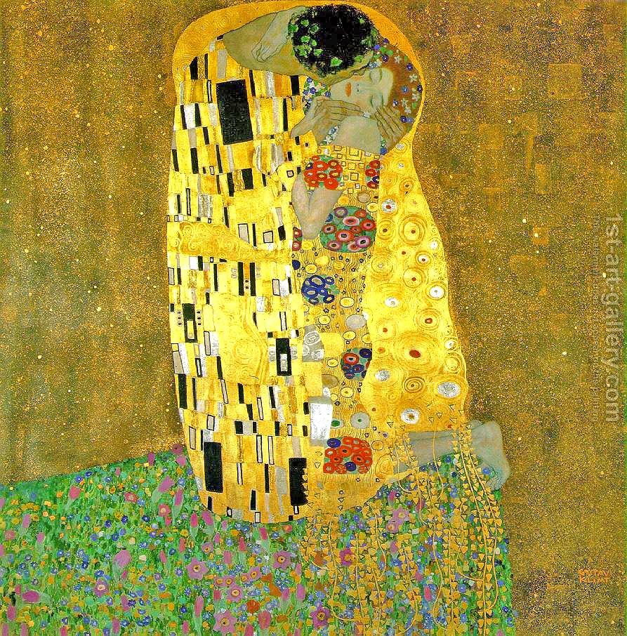 Gustav Klimt,  The Kiss , 1908.