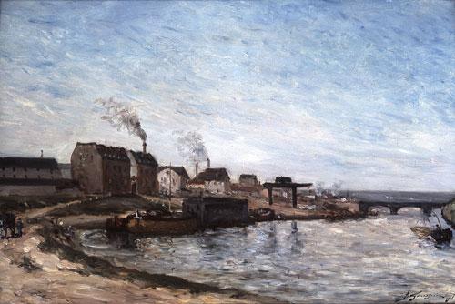 Paul Gauguin,  La Seine au Pont de Grenelle,  1875