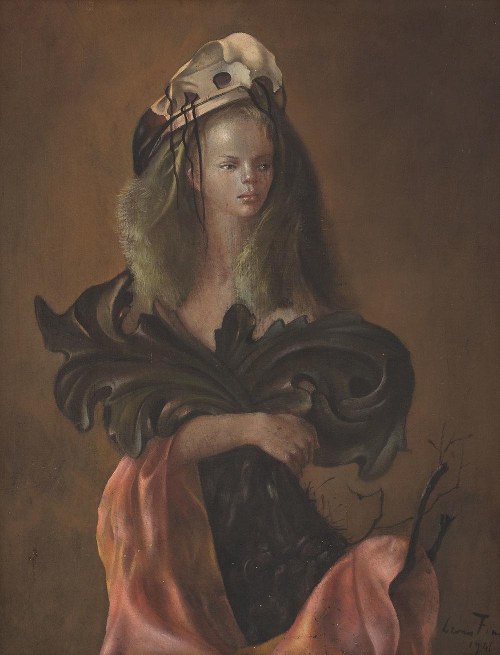 Portraite de Femme aux feuille d'acanthe , 1946