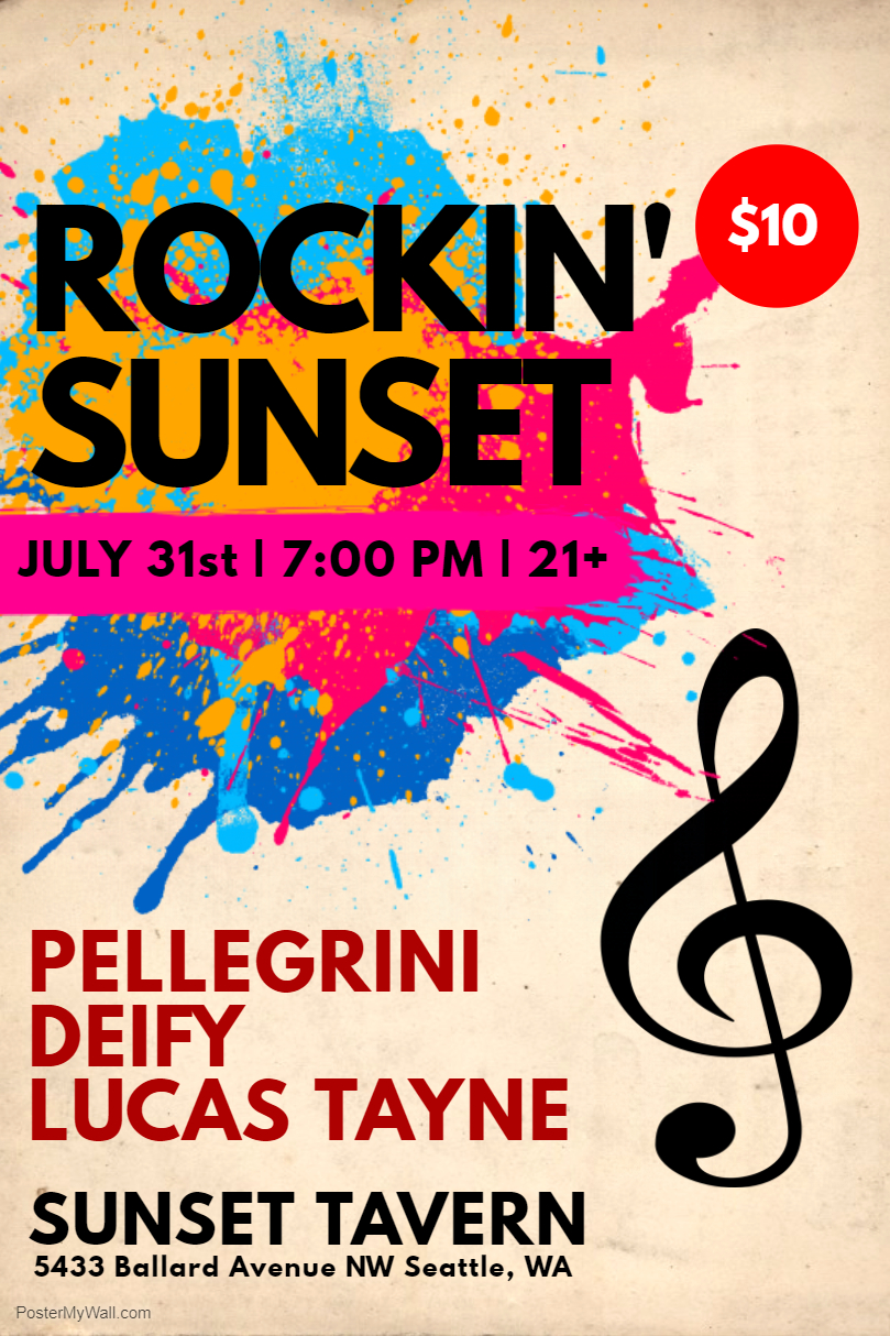 Sunset Tavern Show: July 31st — Deify
