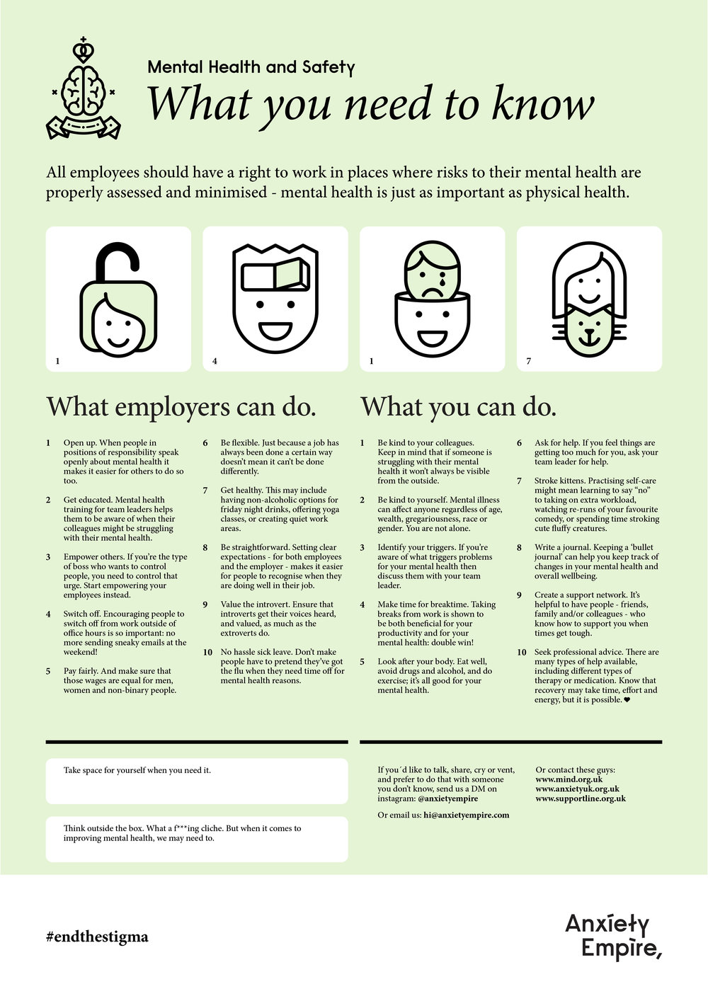 The Mental Health & Safety Poster
