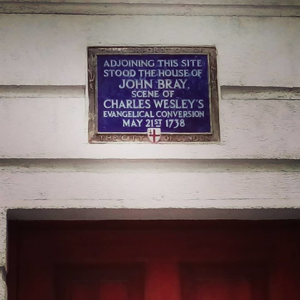 Scene of Charles Wesley's conversion